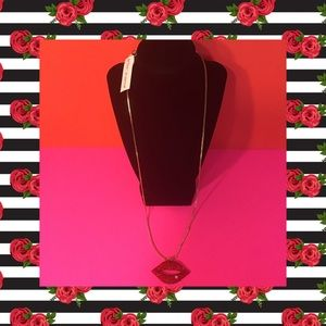 💋SALE! NWT BETSEY JOHNSON CRYSTAL LIPS NECKLACE